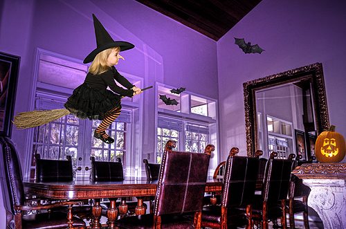 Hayden, Flying Witch on a Broomstick