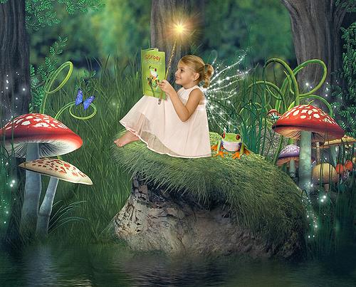 Ashlyn, Fairy Reading in the Forest