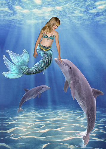 Hayden, Little Mermaid and Dolphins