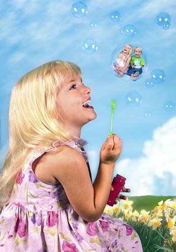 Sarah and Chip, Blowing Bubbles