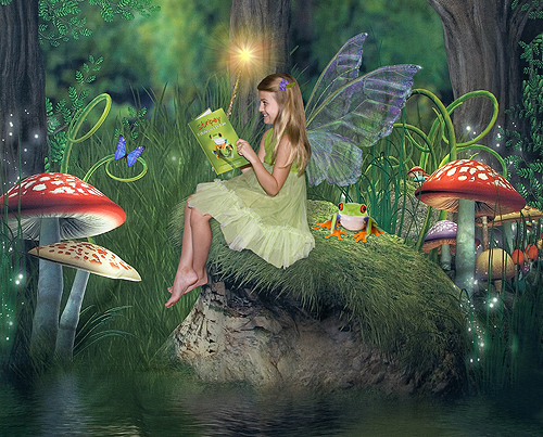 Hayden, Fairy Reading in the Forest