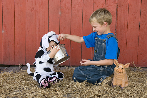 Levi Jr. and Rylee, The Dairy Farmer and...