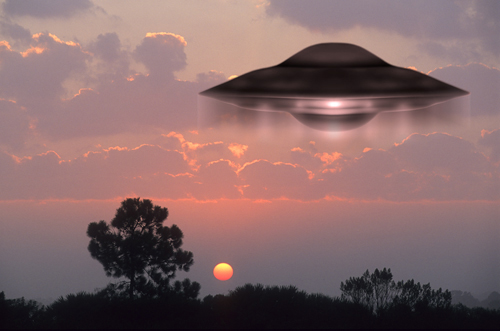 UFO at Sunset