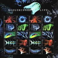 2018 Bioluminescent Life, Sheet of 20 Postage Stamps