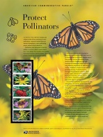 Monarch Butterflies on 2018 USPS Commemrative Panel