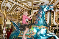 Ashlyn on the Carousel