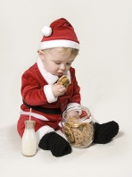 Jayson Eating Santa's Cookies