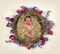 Leah, Sleeping in a Floral Nest