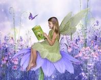 Hayden, Fairy Reading on a Daisy