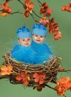 Ashlyn and Hayden, Baby Bluebirds in a Nest