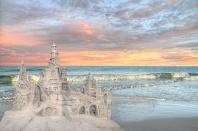 Sandcastle at Sunset